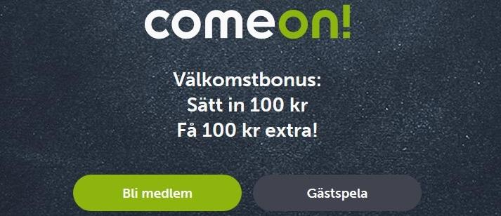 Comeon odds bonus