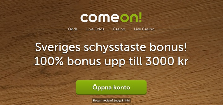 Comeon sportsbetting bonus på 3000 kronor
