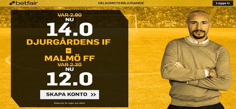 Speltips Djurgården - Malmö i Allsvenskan 18 April 2018