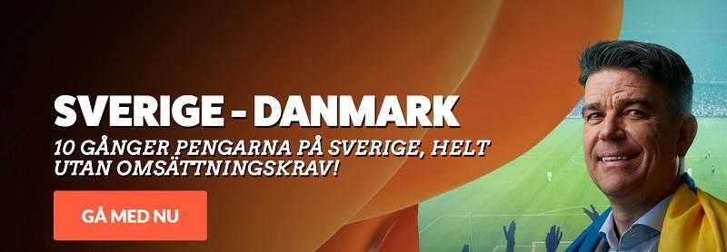 Oddsboost Sverige - Danmark 2 juni 2018
