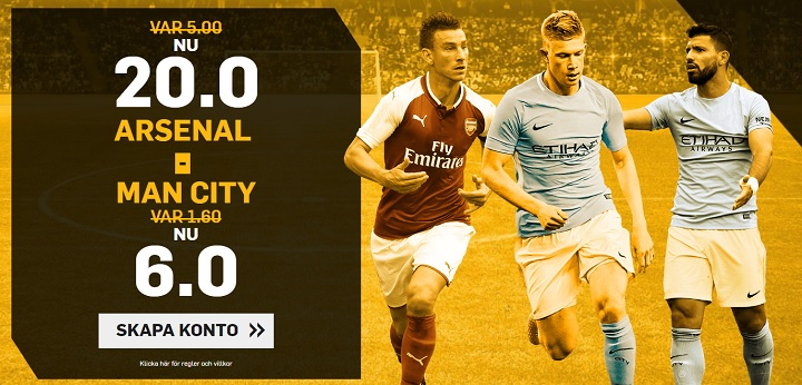 Speltips Ligacupfinalen 2018 Arsenal vs Man City
