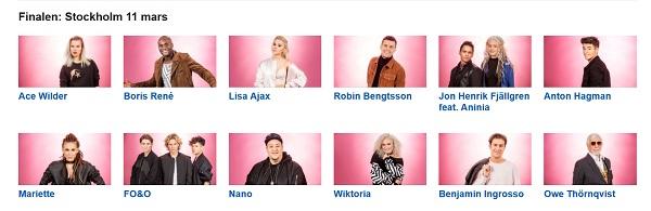 Bästa odds Melodifestivalen 2017 - Finalen