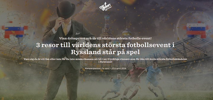 Vinn resa till Fotbolls VM med Mr Green i April 2018