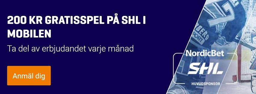 Vinnarodds på segrare av  SHL 2017 - 2018