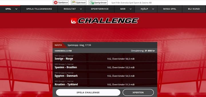 Oddset Challenge hos Svenska Spel