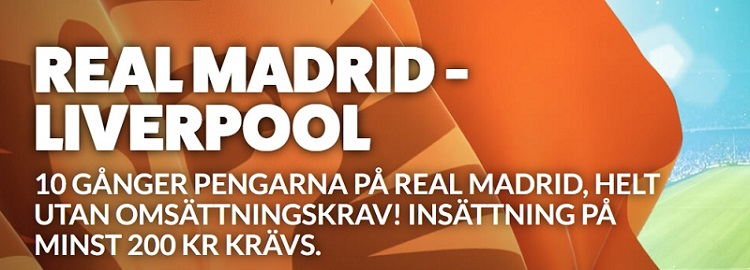 Speltips Real Madrid - Liverpool