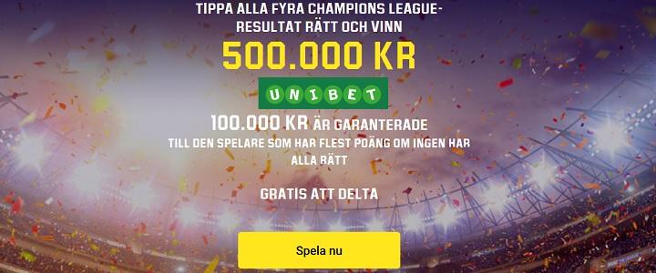 Speltips Unibet Champions League