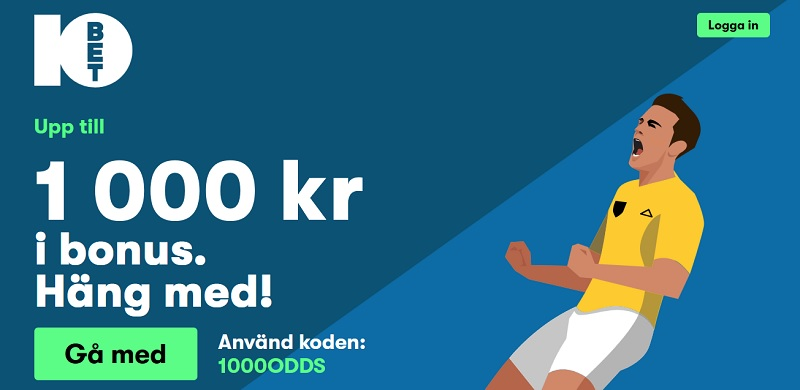 10bet nu i Sverige med svensk spellicens