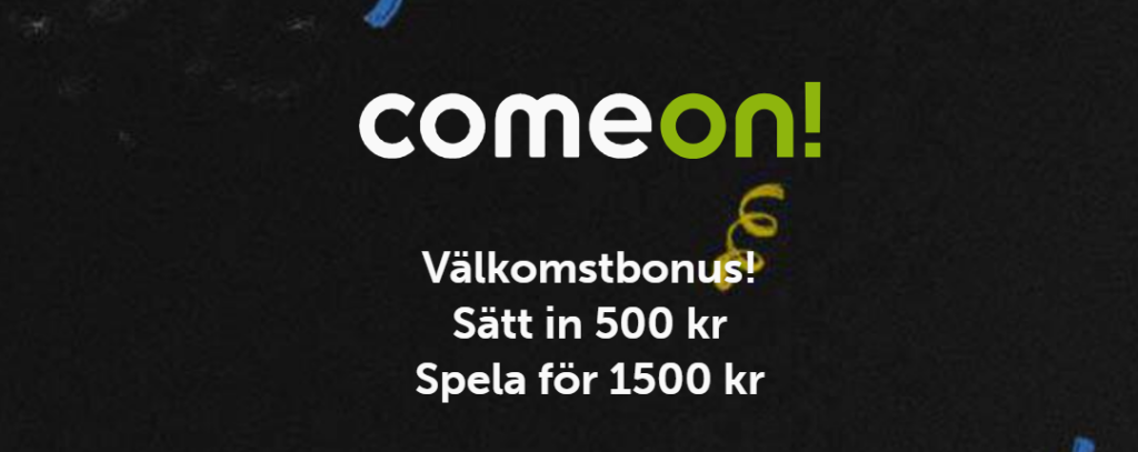Ny 200% oddsbonus hos ComeOn