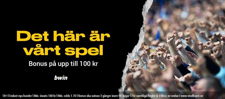 Bwin odds bonus - upp till 100 kr
