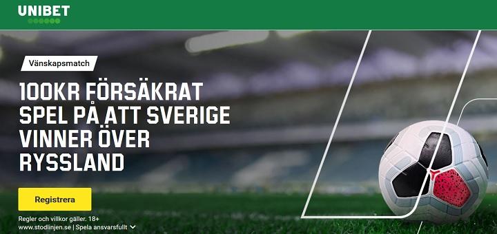 Speltips Sverige  - Ryssland fotboll