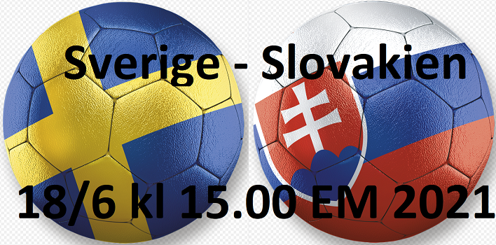Sverige - Slovakien Fotbolls EM 18/6 2021