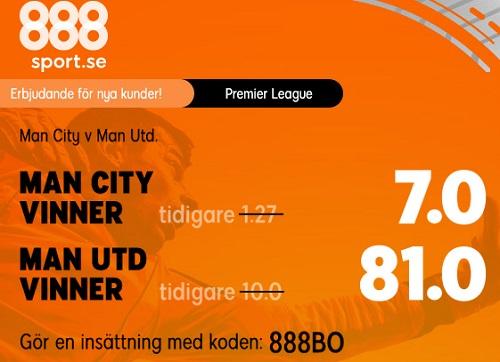 Erbjudande Man City - United